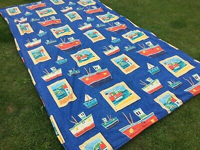 Handmade Single bed Quilt Throw Cover Blanket Boats Yachts Nautical theme