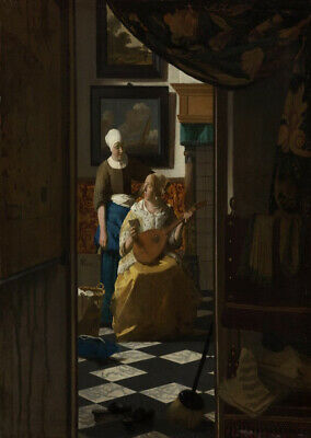 Love letter by Vermeer art print on 230gsm photo paper