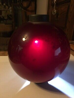 Ruby Blood Red, Weather Warrior Lightning Rod Ball, Superb , A Name Taker