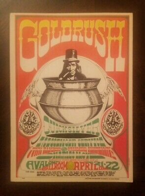 Family Dog Avalon Ballroom Postcard FD58 Quicksilver Messenger Service Apr. 1967