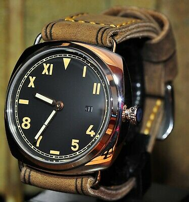 Parnis 47Mm Auto - Finest Handmade, Leather Band