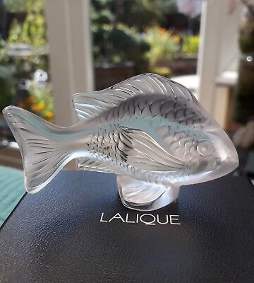 Lalique Fish Damsel Fish Clear 3025000 Brand new in Box , Only 2 left ,Perfect !