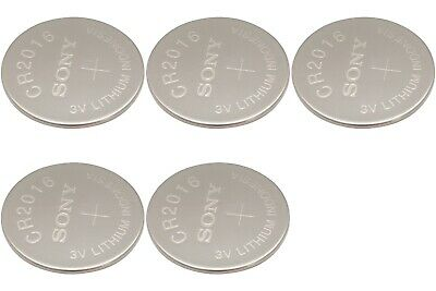 5 Pcs Sony Button Cell Watch Batteries (Lithium 2016)