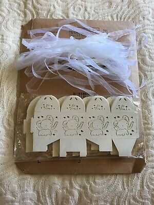 Baby Shower Favour Boxes Box Boy Girl Gender Reveal New Baby Party Elephants