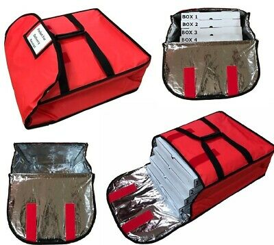 "Professional Heavy Duty Pizza Delivery Bag Fully Foil Insulated Size 20""x20""x8"""