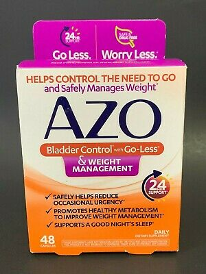 Azo Bladder Control >> Azo Bladder Control With Go Less Weight Management 48 Capsules