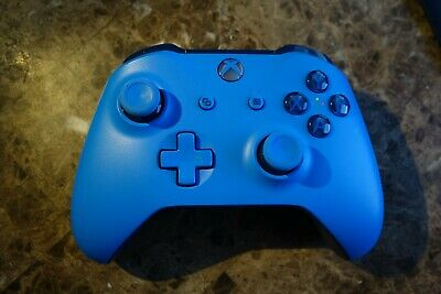 Solid Blue Xbox One Wireless Controller Official Genuine Xbox One 3.5mm