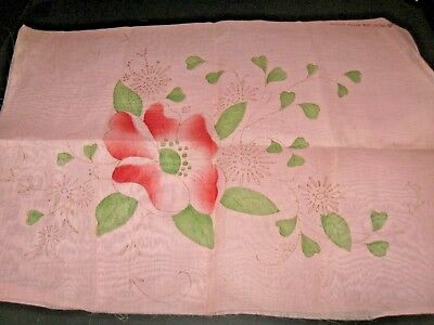 Pair of Antique Vintage 1920's Pink Shabby Boudoir Pillow Cover Set you finish
