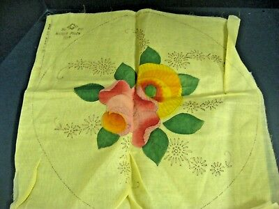 Antique Vintage 1920s Yellow floral Shabby Boudoir Pillow Cover you finish