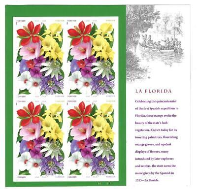 US SCOTT 4750 - 4753 4753b PANE OF 16 LA FLORIDA IMPERF FOREVER STAMPS MNH