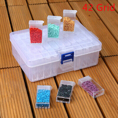 42 Slots Embroidery Diamond Painting Storage Box Case Nail Art Holder Cases TS