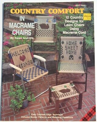 Vtg 90s COUNTRY COMFORT Macrame Pattern Booklet by Plaid Karen Andrith