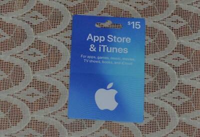 ONE $15 App Store And ITunes Gift Card