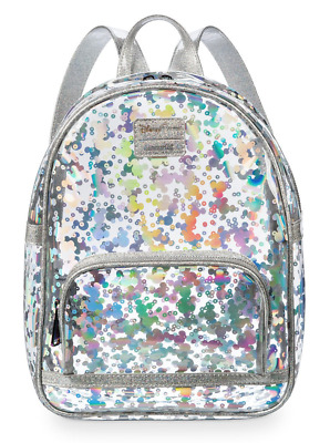 Disney Parks Mickey Mouse Magic Mirror Metallic Mini Backpack By Loungefly