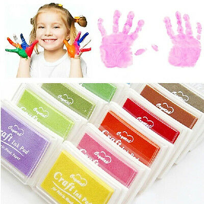 Children Craft Oil DIY Ink Pad Rubber Stamp Fabric Wood Papier Scrapbooking W TG