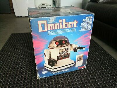 TOMY Omnibot Robot Toy 1980's in Original Box