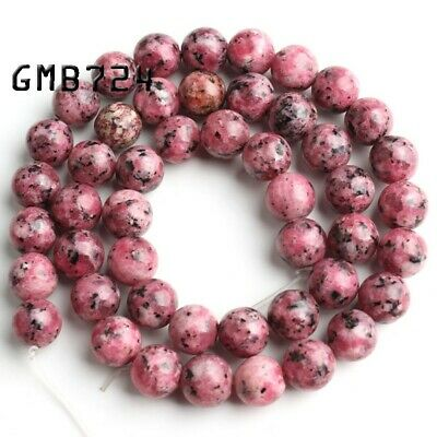 Natural Gemstone Round Spacer Loose Beads 6mm 8mm 10mm 12mm Red Spotted Stones
