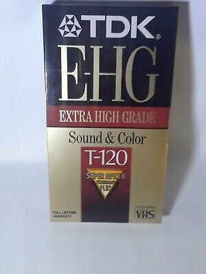 Lot of 5 TDK EHG Extra High Grade T-120 Blank VHS Tapes Sealed Avilyn Technology