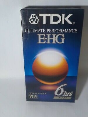 5 TDK E-HG T-120 Blank VHS Tapes SEALED Extra High Grade 6 Hour HiFi Surround