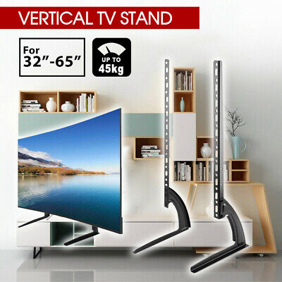 "New Universal Table Top TV Stand Leg Mount LED LCD Flat TV Screen 32-65"" Bracket"