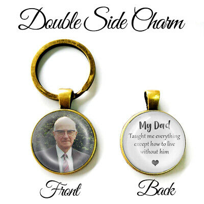 Personalised Double Side Keyring Memorial Loss Love Mum Dad Bereavement Gifts UK