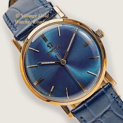 Omega Cal.600, 9Ct, 1961, Blue Dial - Simply Beautiful And Immaculate!