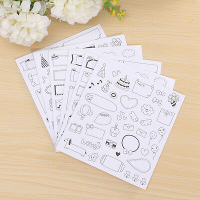 6Pcs/lot Calendar Paper Stickers DIY Scrapbooking Diary Stationery For Children