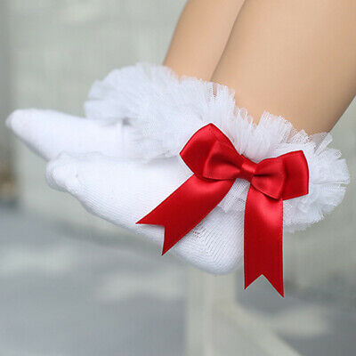 Baby Toddler Girls Frilly Lace Low Cut Ankle High Cotton Tutu Sock Wedding Party