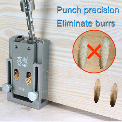 Pro Pocket Hole Joiner Jig locator Kit with Step Drill Bit 9mm Screwdriver Wood