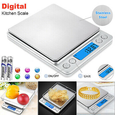 Digital Electronic Kitchen Scale Pocket Food Weight Scales Mini LCD  0.01g-500g.