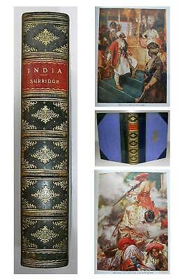 1909 INDIAN HISTORY India Stories FINE LEATHER BINDING by BIRDSALL Punjab Clive