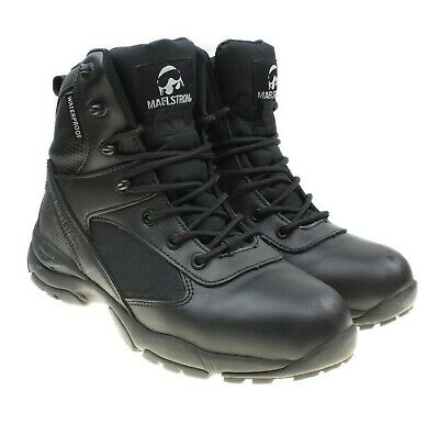 Maelstrom TAC ATHLON 6 Mens Black Waterproof Tactical Military Work Boots Sz 7.5