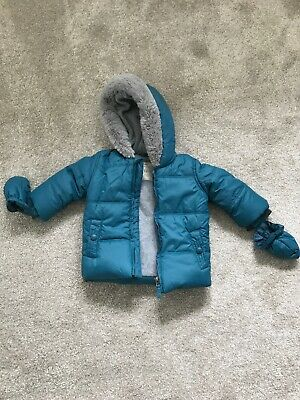 George Turquoise Thick Boys Coat 6-9 Months Jacket BN