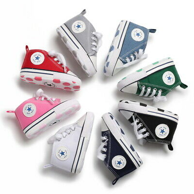 Baby Boy Girl Crib Shoes Infant Toddler Sneakers Soft Sole PreWalker Trainers