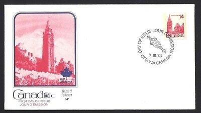 Canada  # 715  Fleetwood  Parliament Building Cover   New 1978 Unaddressed