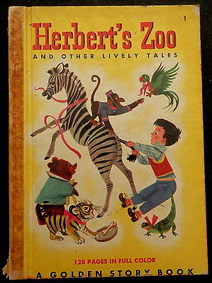 Herberts Zoo & More A GOLDEN STORY BOOK #1 (1949) Multiple Authors Art by Julian