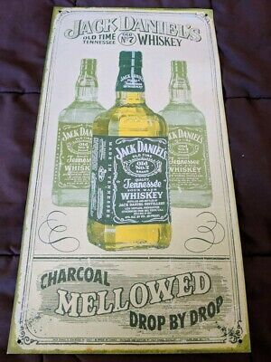 Vintage Collectible Jack Daniels Tennessee Whiskey Nostalgic Rustic Metal Sign