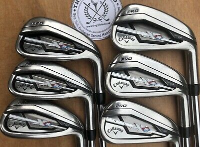 Callaway XR PRO Irons - 5 - PW - PROJECT X 5.5 95 FLIGHTED SHAFTS