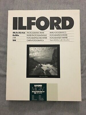 """Ilford 8 x 10"""" Multigrade IV RC Deluxe B&W Paper, Pearl Surface 100 count"""