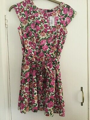 Ladies/Girls Rose Floral Cotton Dress.BNWT Very pretty.Size 10.Florence &Fred.
