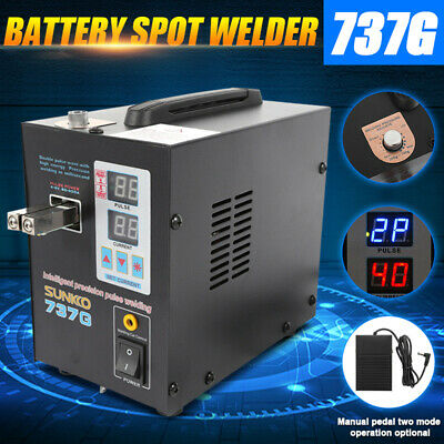 Handheld SUNKKO 737G 800A 110V Battery Spot Welder with Pulse Current Display US