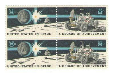 NASA Space Explor. Apollo 15 Lunar Rover Mint 46 Year Old Mint Stamp Block 1971