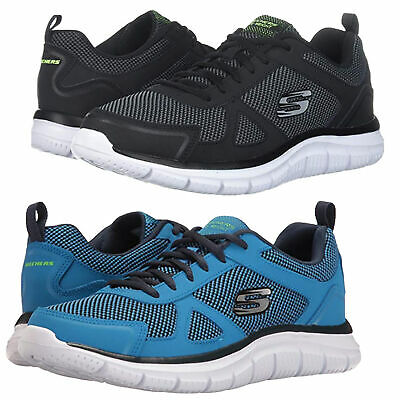 MENS SKECHERS TRACK Bucolo Lace Up Gym Memory Foam Sport Trainers 52630 Fashion