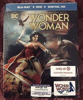 DC Universe Wonder Woman Commemorative Edition Blu-Ray Steelbook Target Excl