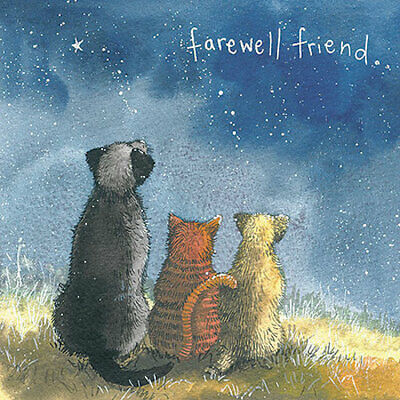 With Sympathy Pet Card Cat Dog Farewell Friend Thinking of You Cards Alex Clark