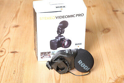 Boxed Rode VideoMic Pro Stereo Microphone in Excellent Condition