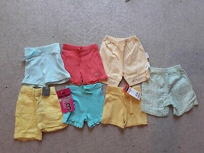 3-6 month girls shorts bundle
