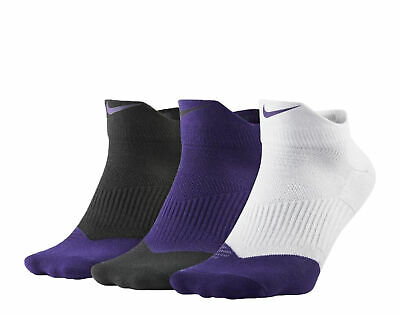 41c88510f NEW NIKE 3 Pair Dri-Fit Cushion Quarter Socks Large SX4835 Tennis ...