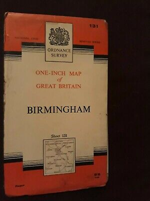 Ordnance Survey One Inch Map - Sheet 131 Birmingham (Paper)