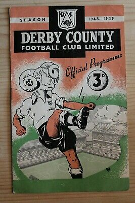 Derby County V Aston Villa 1948/49 (27/04/1949) Football Programme